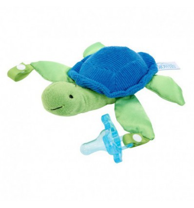 PELUCHE SUJETACHUPETES LOVEY DR BROWN´S TORTUGA TIMMY CON CHUPETE