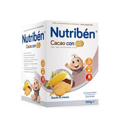 PAPILLA NUTRIBEN CACAO CON GALLETA MARIA 500gr