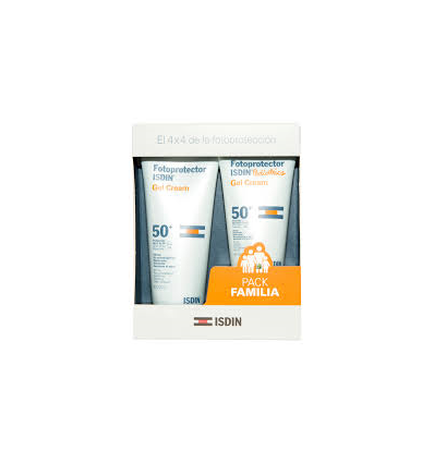 PACK ISDIN FAMILIAR GEL-CREMA SOLAR SPF-50+ 200ml + GEL-CREMA SOLAR PEDIATRICS SPF50+ 150ml
