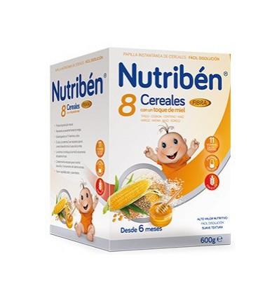 PAPILLA NUTRIBEN 8 CEREALES Y MIEL FIBRA 600gr