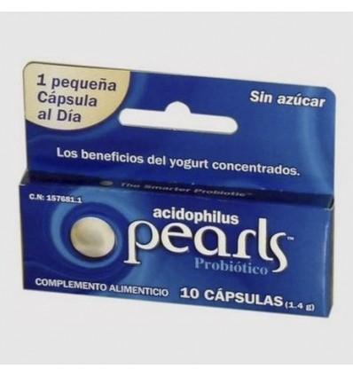 PROBIOTICO PEARLS ACIDOPHILUS 10 cápsulas