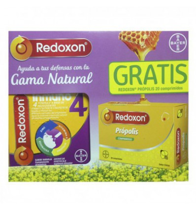 PACK VITAMINAS REDOXON INMUNO 4 SABOR NARANJA 14 sobres + COMPRIMIDOS REDOXON PROPOLIS 20 comprimidos