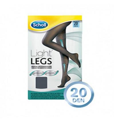 MEDIAS DE COMPRESION DR SCHOLL LIGHT LEGS 20 DEN COLOR NEGRO TALLA GRANDE