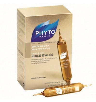 BAÑO DE BRILLO HUILE D´ALES PARA EL CABELLO PHYTO 5 ampollas
