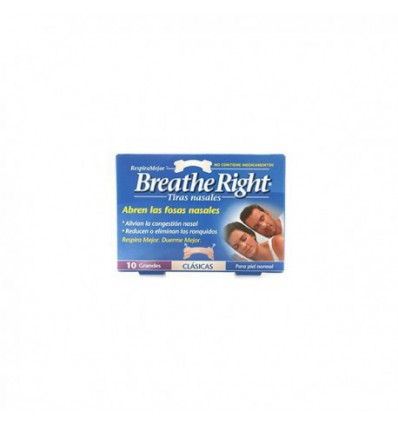 TIRAS NASALES BREATHE RIGHT GRANDE 10u.