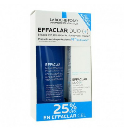 PACK CREMA ANTI-IMPERFECCIONES EFFACLAR DUO LA ROCHE POSAY SPF-30 40ml + GEL LIMPIADOR EFFACLAR 200ml