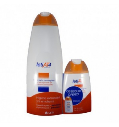 PACK GEL DE BAÑO LETI AT-4 DERMOGRASO 750ml + 200ml