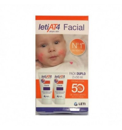 PACK CREMA FACIAL LETI AT-4 2x50ml