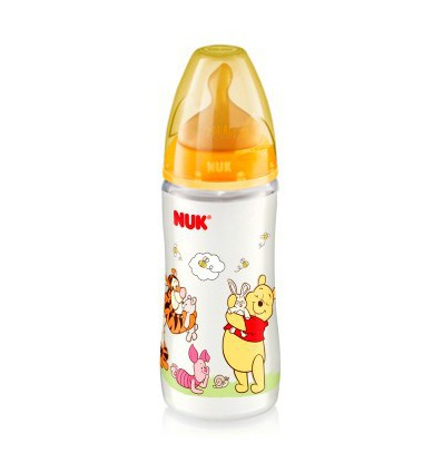 BIBERON DE LATEX WINNIE THE POOH NUK FIRST CHOICE 0-6 MESES 300ml