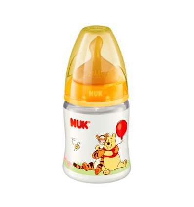 BIBERON DE LATEX WINNIE THE POOH NUK FIRST CHOICE 0-6 MESES 150ml