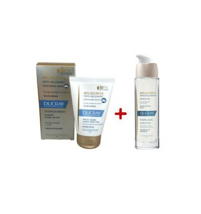 PACK SERUM GLOBAL MELASCREEN DUCRAY 30ml + CREMA DE MANOS MELASCREEN SPF-50 50ml