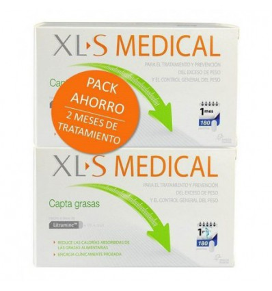 PACK XLS MEDICAL CAPTAGRASAS 2x180 cápsulas