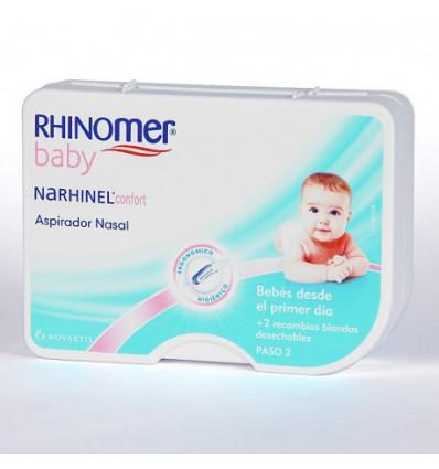 PACK ASPIRADOR NASAL RHINOMER BABY (ANTES NARHINEL CONFORT ) + CHUPETERO