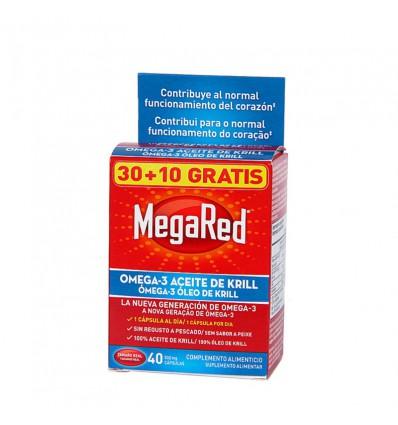 PACK OMEGA 3 MEGARED CON ACEITE DE KRILL 30+10 cápsulas