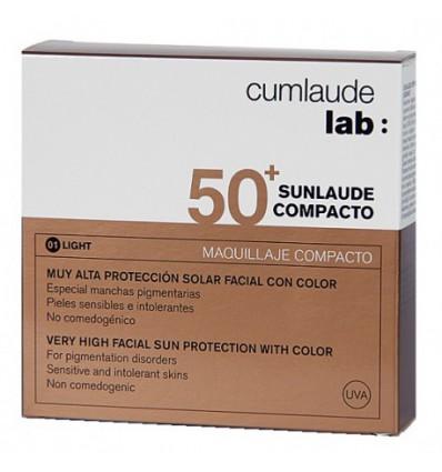 MAQUILLAJE COMPACTO SUNLAUDE SPF-50+ TONO LIGHT