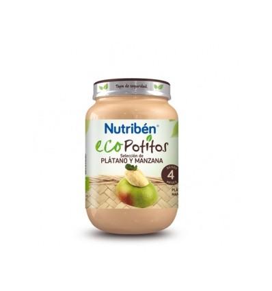 ECOPOTITO NUTRIBEN PLATANO Y MANZANA 130gr