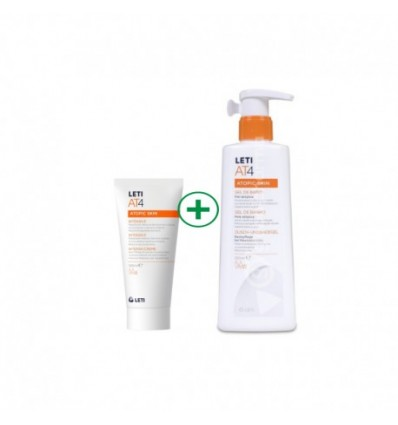 PACK CREMA LETI AT-4 INTENSIVE 100ml + GEL DE BAÑO LETI AT-4 250ml