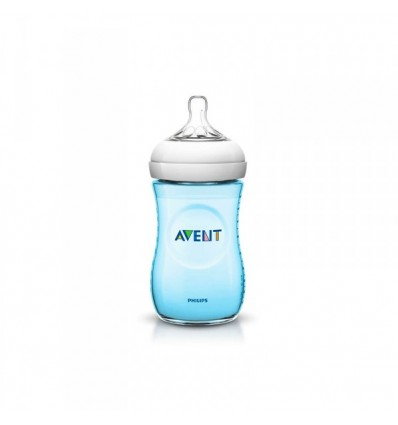 BIBERON NATURAL AVENT COLOR AZUL +1 MESES 260ml