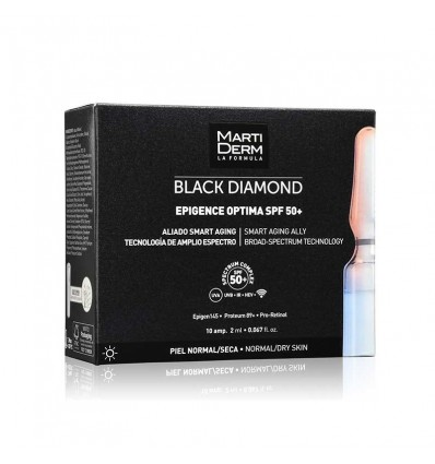 AMPOLLAS EPIGENCE OPTIMA MARTIDERM BLACK DIAMOND SPF-50+ 10 ampollas