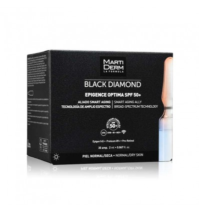 AMPOLLAS EPIGENCE OPTIMA MARTIDERM BLACK DIAMOND SPF-50+ 30 ampollas