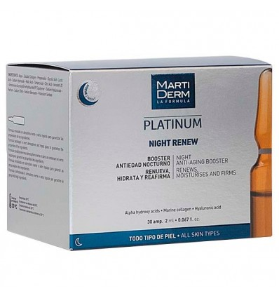 AMPOLLAS NIGHT RENWE MARTIDERM PLATINUM 30u