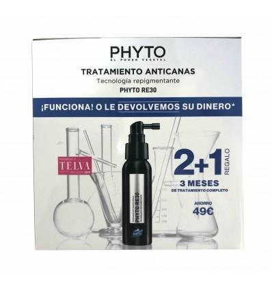 PACK TRATAMIENTO ANTI-CANAS PHYTO RE30 3x50ml