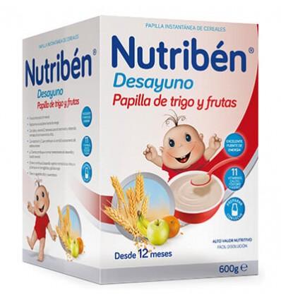 PAPILLA NUTRIBEN COPOS DE TRIGO Y FRUTAS 750gr