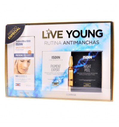 PACK ISDINCEUTICS DAY AND NIGHT RUTINA ANTIMANCHAS + FLUIDO SOLAR FOTOULTRA SPOT PREVENT ISDIN SPF-50+ 50ml