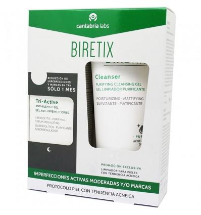 PACK GEL ANTI-IMPERFECCIONES BIRETIX TRI ACTIVE CANTABRIA LABS 50ml + GEL LIMPIADOR BIRETIX CLEANSER 150ml