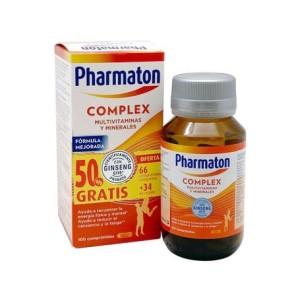 PACK VITAMINAS PHARMATON COMPLEX 66 + 34 comprimidos