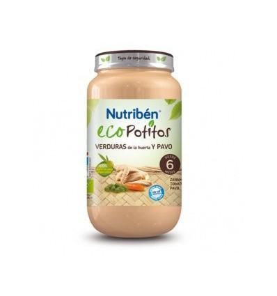 ECOPOTITO NUTRIBEN VERDURAS DE LA HUERTA CON PAVO 250gr