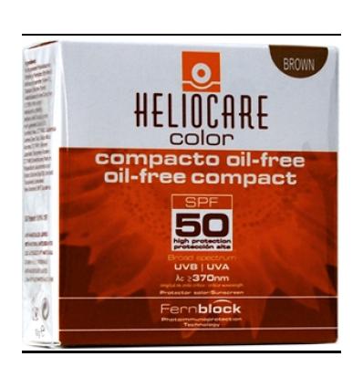 MAQUILLAJE COMPACTO HELIOCARE OIL FREE BROWN SPF-50 10gr