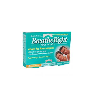 TIRAS NASALES BREATHE RIGHT MENTOLADAS 8u