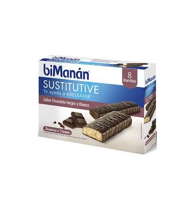 BARRITAS BIMANAN SABOR CHOCOLATE NEGRO Y BLANCO 8u