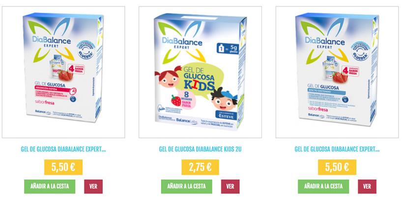 geles glucosa diabalance
